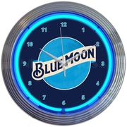 Neonetics 15'' Blue Moon Beer Neon Clock