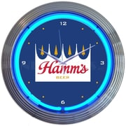 Neonetics 15'' Hamms Beer Neon Clock