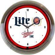 Neonetics 15'' Miller Lite Beer Its Miller Time Neon Clock