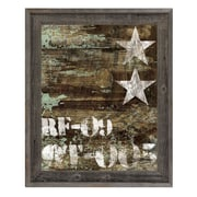 Click Wall Art 'RF-09 Typography and Stars' Framed Graphic Art; 23.5'' H x 19.5'' W x 1'' D