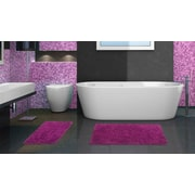 Popular Bath Products 2 Piece Chenille Bath Rug Set; Purple