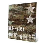 Click Wall Art 'RF-09 Typography and Stars' Graphic Art; 30'' H x 20'' W x 0.04'' D