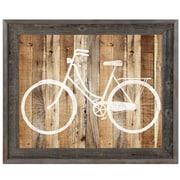 Click Wall Art 'Bicycle Wood' Framed Wall Art; 23.5'' H x 33.5'' W x 1'' D