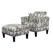 Carolina Accents Briley Java Armchair and Ottoman; Java Pewter
