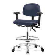 Perch Chairs & Stools Drafting Chair; Imperial Blue