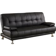 BestMasterFurniture Convertible Sofa; Black