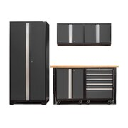 NewAge Products Pro 3.0 Series 6-Piece Garage Storage Cabinet Set; Gray