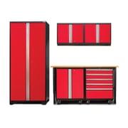 NewAge Products Pro 3.0 Series 6-Piece Garage Storage Cabinet Set; Red