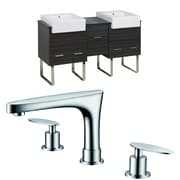 American Imaginations Xena Farmhouse 62'' Double Bathroom Vanity Set