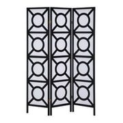 Wildon Home   71'' x 52'' Geometric 3 Panel Room Divider