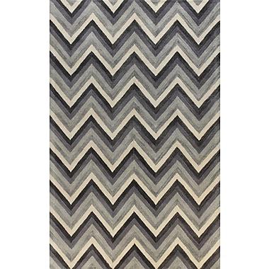 Bashian Rugs Ashland Grey Area Rug; 5' x 7'6''