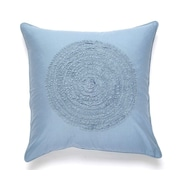 Darzzi Water Cotton Pillow Cover; Blue / Gray