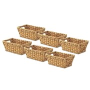 Whitmor, Inc Split Rattique  Storage Tote (Set of 6); Water Hyacinth