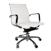 PoliVaz Eames Leather Executive Chair; White
