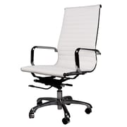PoliVaz Leather Executive Chair; White