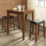 Crosley Dylan 3 Piece Pub Table Set; Classic Cherry