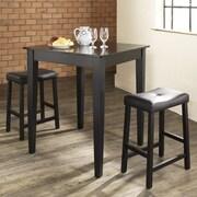 Crosley Dylan 3 Piece Pub Table Set; Black