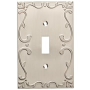 Franklin Brass Classic Lace Single Switch Wall Plate; Satin Nickel