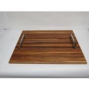 Bahari Teak Tray w/ Stainless Steel Handle