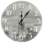 Oriental Furniture 13'' Empire State Building Wall Clock