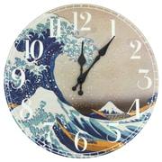 Oriental Furniture 14.25'' Great Wave Off Kanagawa Wall Clock