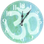 Oriental Furniture 13'' Om Wall Clock