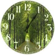 Oriental Furniture 13'' Path of Life Wall Clock