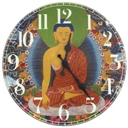 Oriental Furniture 13'' The Enlightened Buddha Wall Clock