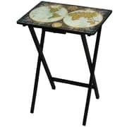 Oriental Furniture Vintage World Map TV Tray