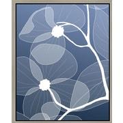 Green Leaf Art 'White Flowers I' Framed Graphic Art on Canvas; 14'' H x 11'' W x 1.5'' D