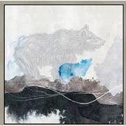Green Leaf Art 'Bear 1' Framed Graphic Art on Canvas; 24'' H x 24'' W x 1.5'' D
