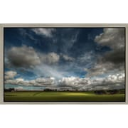 Green Leaf Art 'Love Clouds' Framed Photographic Print on Canvas; 12'' H x 18'' W x 1.5'' D