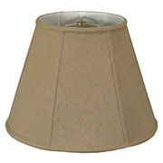 RoyalDesigns Timeless 18'' Linen Empire Lamp Shade; Cream/Off White