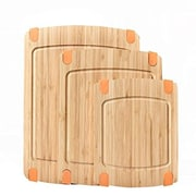Welland Industries LLC 3-Piece Bamboo Cutting Board Set