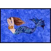 Caroline's Treasures Brunette Mermaid Doormat; 2' x 3'
