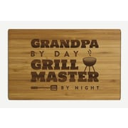 Koyal Wholesale ''Grandpa by Day Grill Master by Night'' Wood Cutting Board