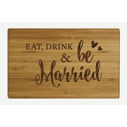 Koyal Wholesale ''Eat Drink and Be Married'' Wood Cutting Board