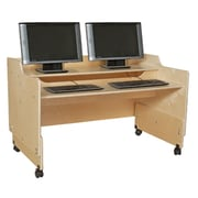 Contender Plywood Adjustable Height Computer Desk