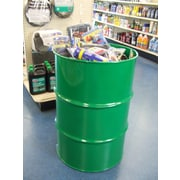 Drum Works Furniture Dump Retail Display Bin; Green