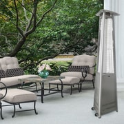 Hanover Triangle Propane Patio Heater; Stainless Steel