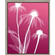 Green Leaf Art 'White Flowers V' Framed Graphic Art on Canvas; 14'' H x 11'' W x 1.5'' D