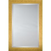 Mirror Image Home Mirror Style 8025 - Honey Finish w/ Tropical Leaf Design; 28.5 x 40.5