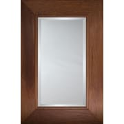 Mirror Image Home Mirror Style 80757 - Dark Honey with Stripe Edge Flat; 45.5 x 65.5
