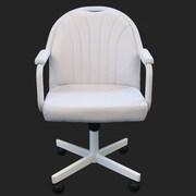 CasterChairCompany Empire Arm Chair; White