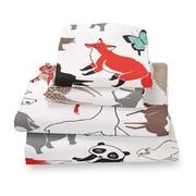 Where the Polka Dots Roam Animal Extra Deep Pocket Sheet Set; Queen