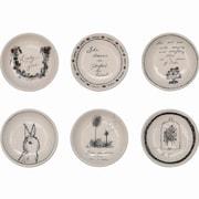 Creative Co-Op Sayings 6 Piece Inspirational Ceramic Serving Dish Set