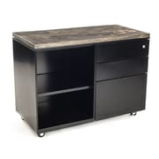 Urban 9-5 3 Drawer Metal Cabinet; Ebony Stained