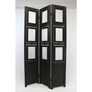 eHemco 63.75'' x 37'' 3 Panel Room Divider; Black
