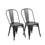 United Chair Industries LLC 17.1'' Bar Stool (Set of 2); Antique Black Brushing