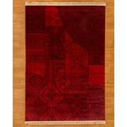 Natural Area Rugs Turkish Afghan Red Area Rug; 5'3'' x 7'6''